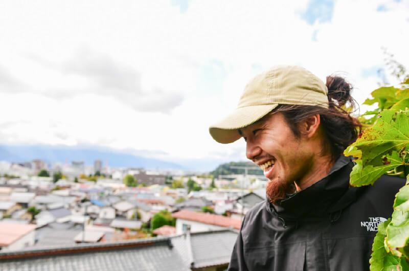 『まち畑プロジェクト』の活動に、大学3年の頃から積極的に関わってきた伊藤一生さん(信州大学大学院 建築学分野1年)