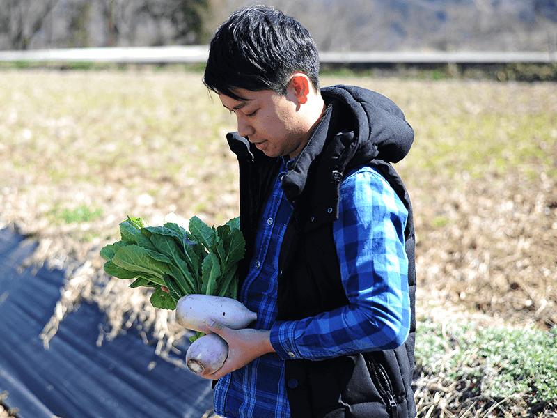 「長野の農業に何か力になれることはないか」との思いで目的をもって長野に帰ってきたと話す酒井さん