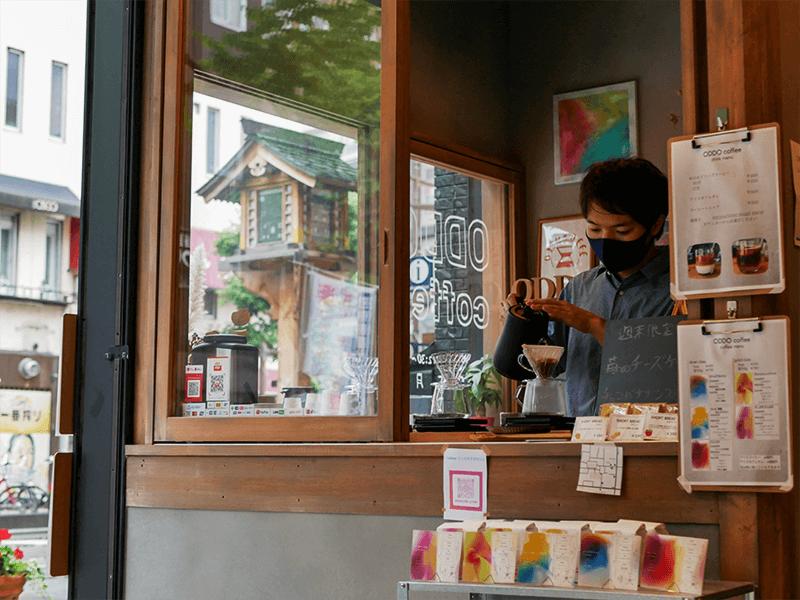 街のコーヒー屋さんのひとつとして地域に浸透してきたODDO coffee